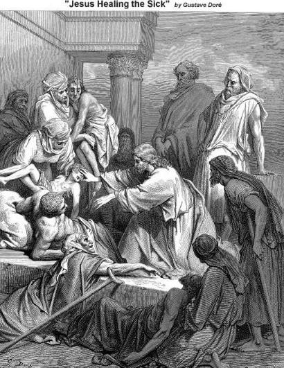 Jesus Healing the Sick by Gustave Dore