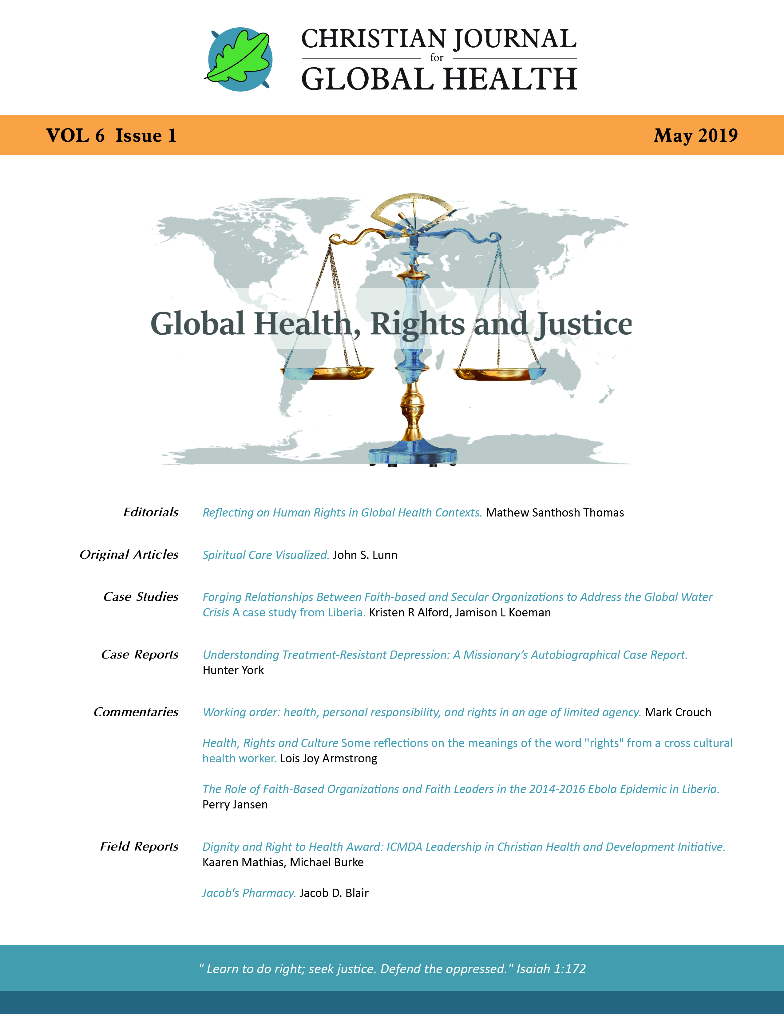 Health, Rights, and Culture | Christian Journal for Global Health